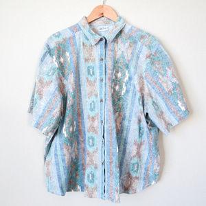 VTG Men's Western Casual Button Up Shirt SZ M/L